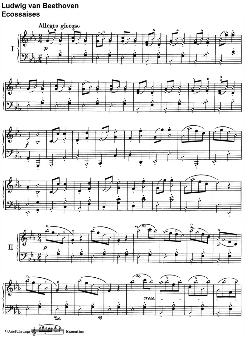 Beethoven - Ecossaises - 4 Pages