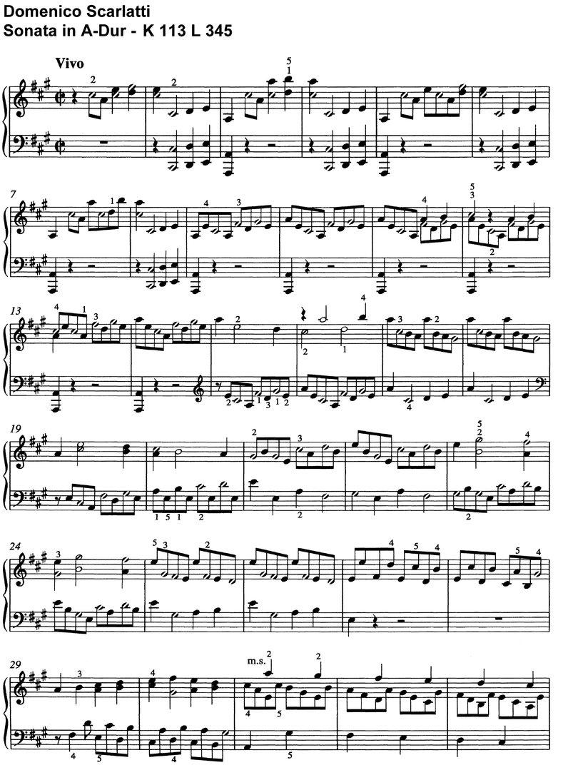 scarlatti sonata Y r 104 [y      r  r 110 [y   r y     r  r 139 [y m      r  144.
