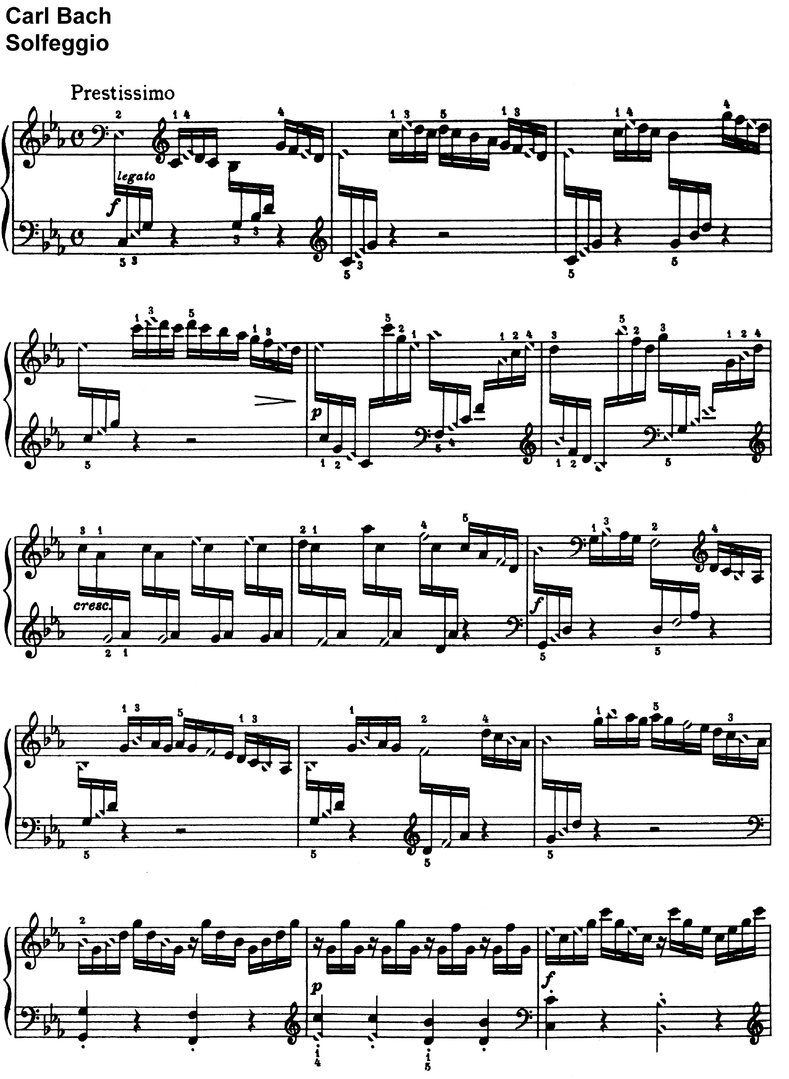 Bach, Carl Philipp - Solfeggio - 2 pages