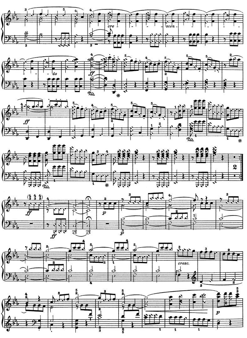 Beethoven - Symphonie Es-Dur Opus 67 piano sheet music download