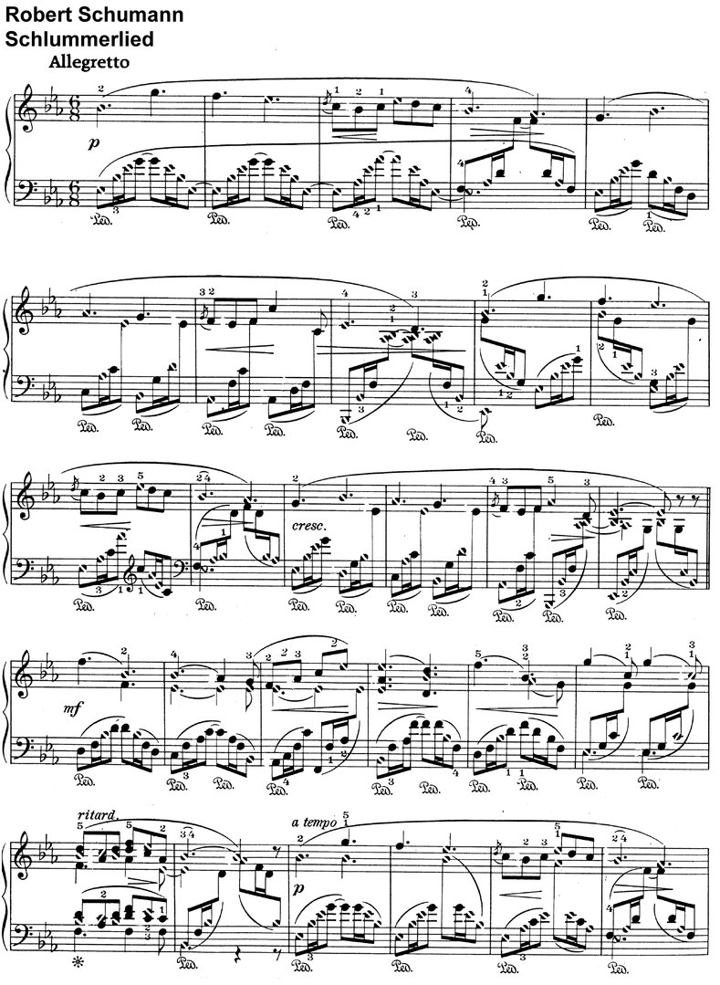 Schumann, Robert - Schlummerlied - 2 Pages