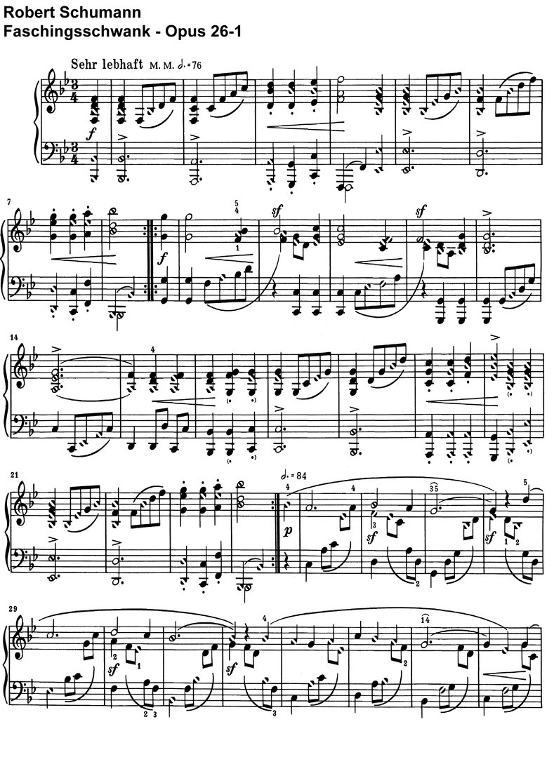 Schumann, Robert - Faschingsschwank - Opus 26 - 32 Pages