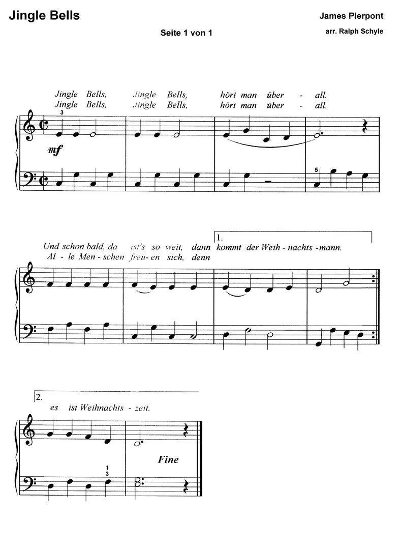 10 bekannte Weihnachtslieder 1 - Klaviernoten download