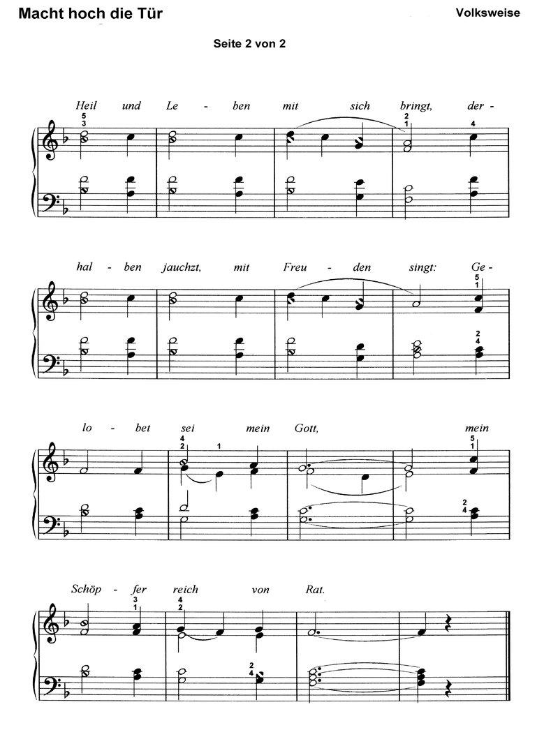 Bekannte Weihnachtslieder.10 Bekannte Weihnachtslieder 1 Klaviernoten Download