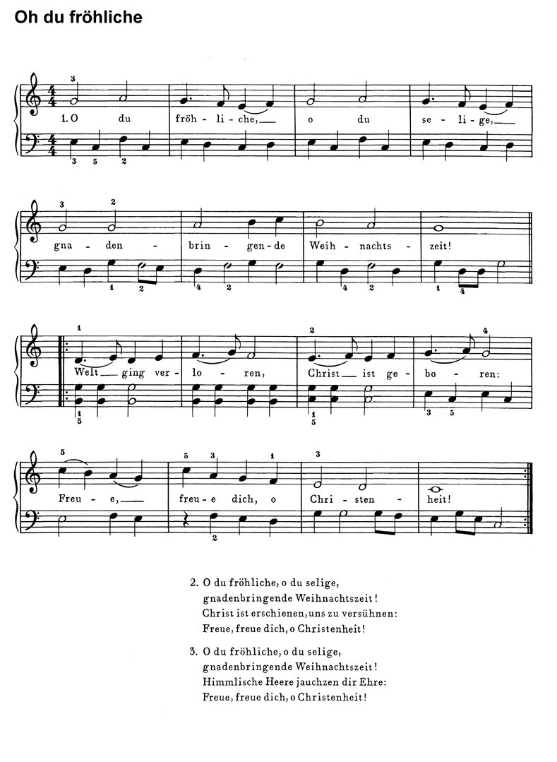 Weihnachtslieder Piano Tutorial.10 Top Christmas Songs 1 Piano Sheet Music Download