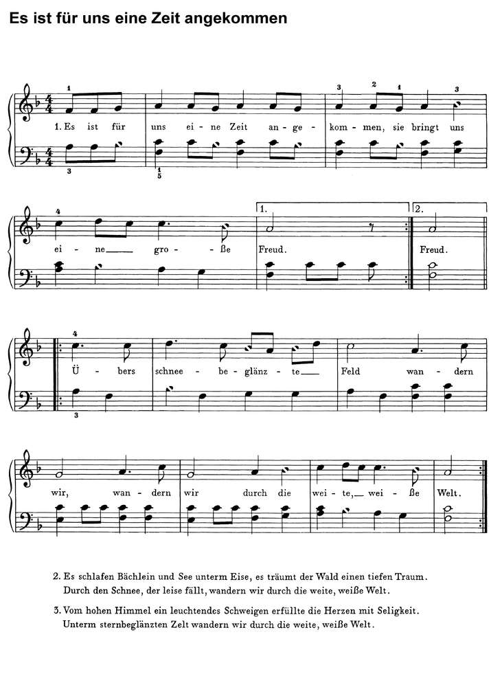 Bekannte Weihnachtslieder.10 Bekannte Weihnachtslieder 2 Klaviernoten Download