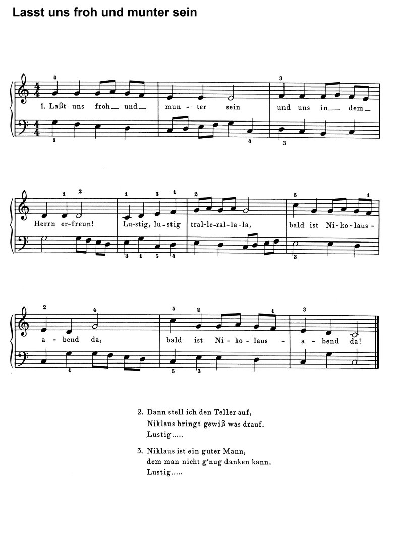10 bekannte Weihnachtslieder 2 - Klaviernoten download
