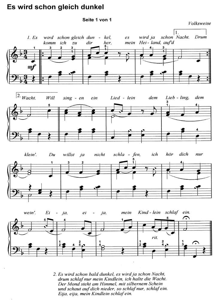 Bekannte Weihnachtslieder.10 Bekannte Weihnachtslieder 3 Klaviernoten Download