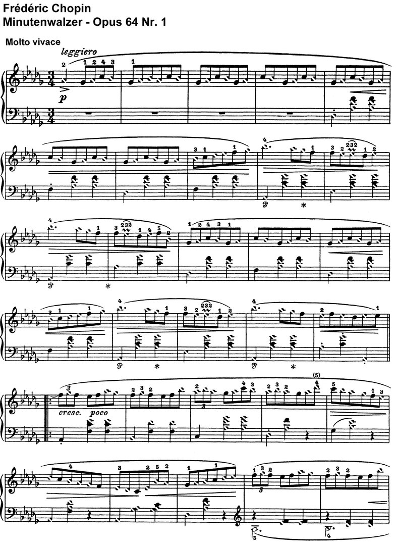Chopin - Minutenwalzer - 4 Pages