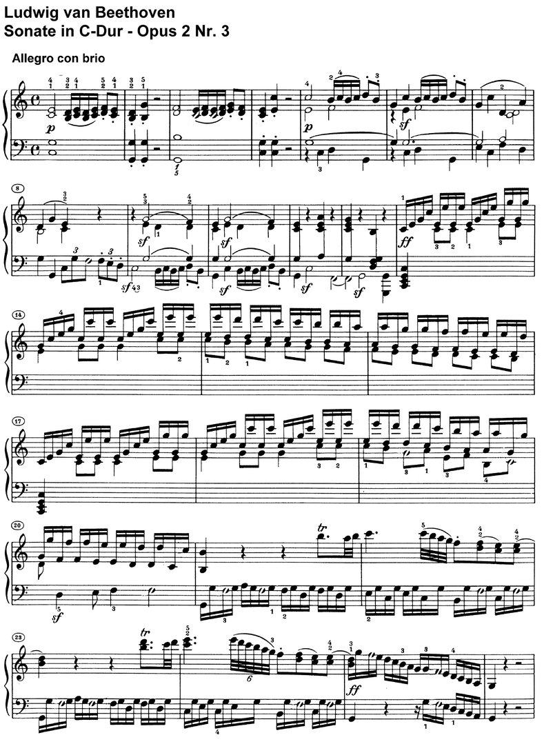 Beethoven - Sonate C-Dur Opus 2 Nr 3 - 26 pages