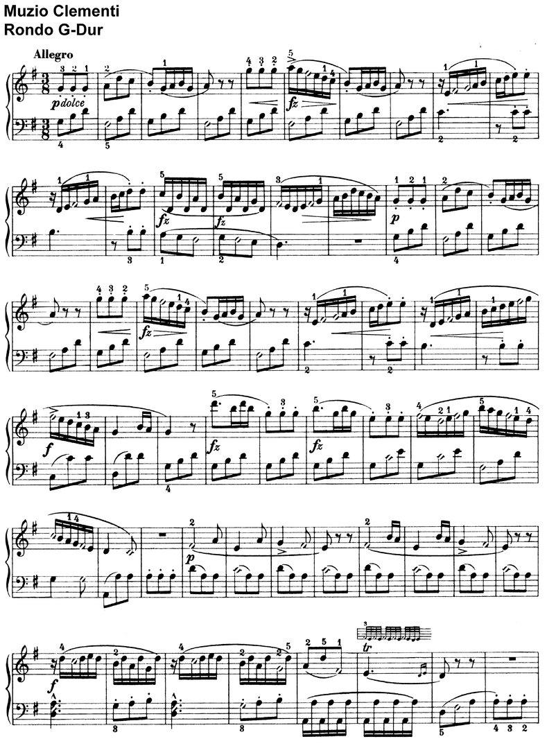 Clementi - Rondo G-Dur - 2 Pages