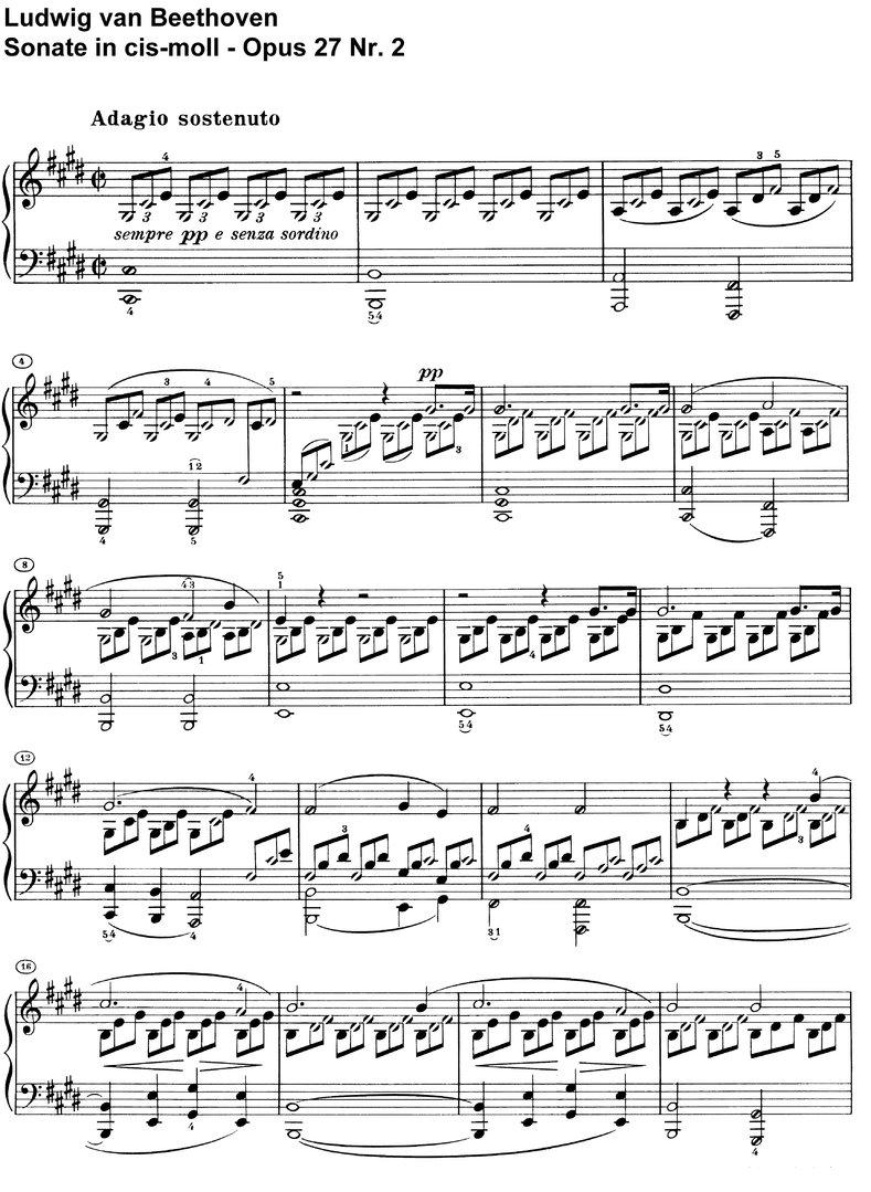 Beethoven Mondscheinsonate