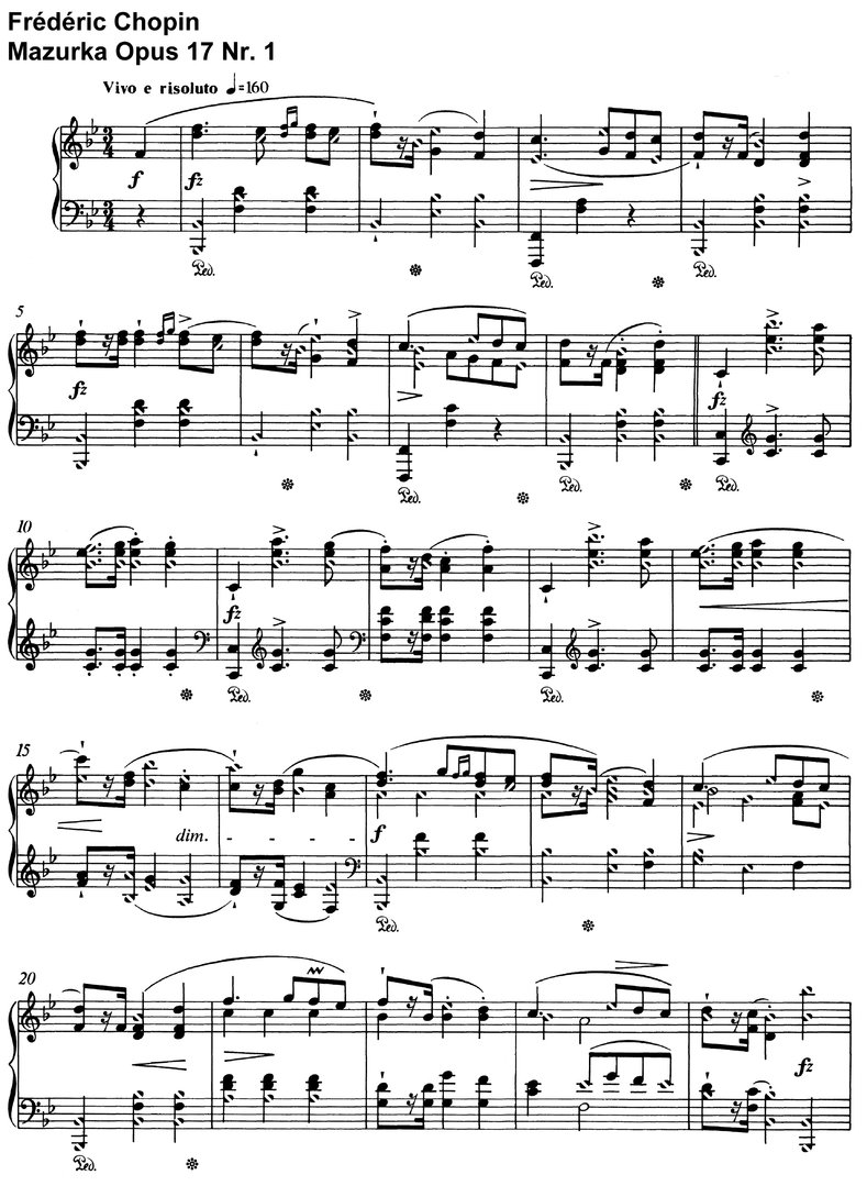 Chopin - Mazurka Opus 17 - 10 Pages