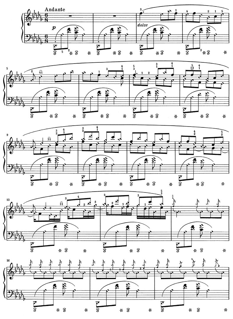 Chopin - Berceuse Opus 57 - 6 Pages