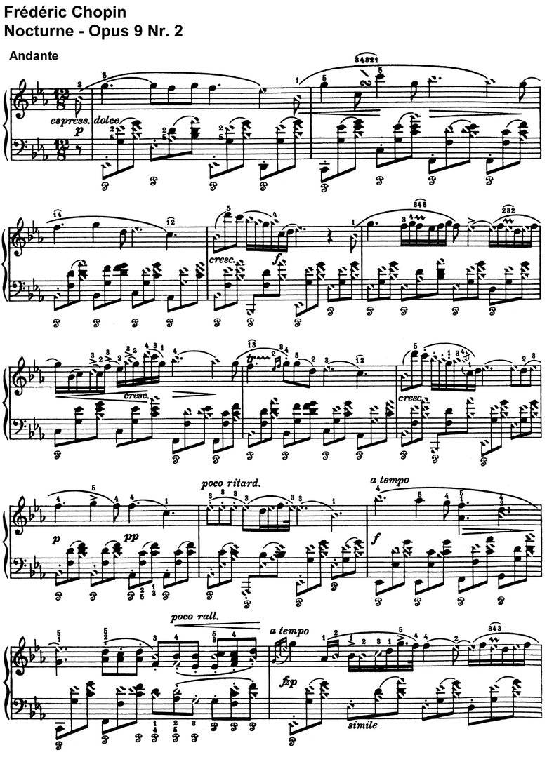 Chopin - Nocturne Opus 9 Nr 2 - 3 Pages