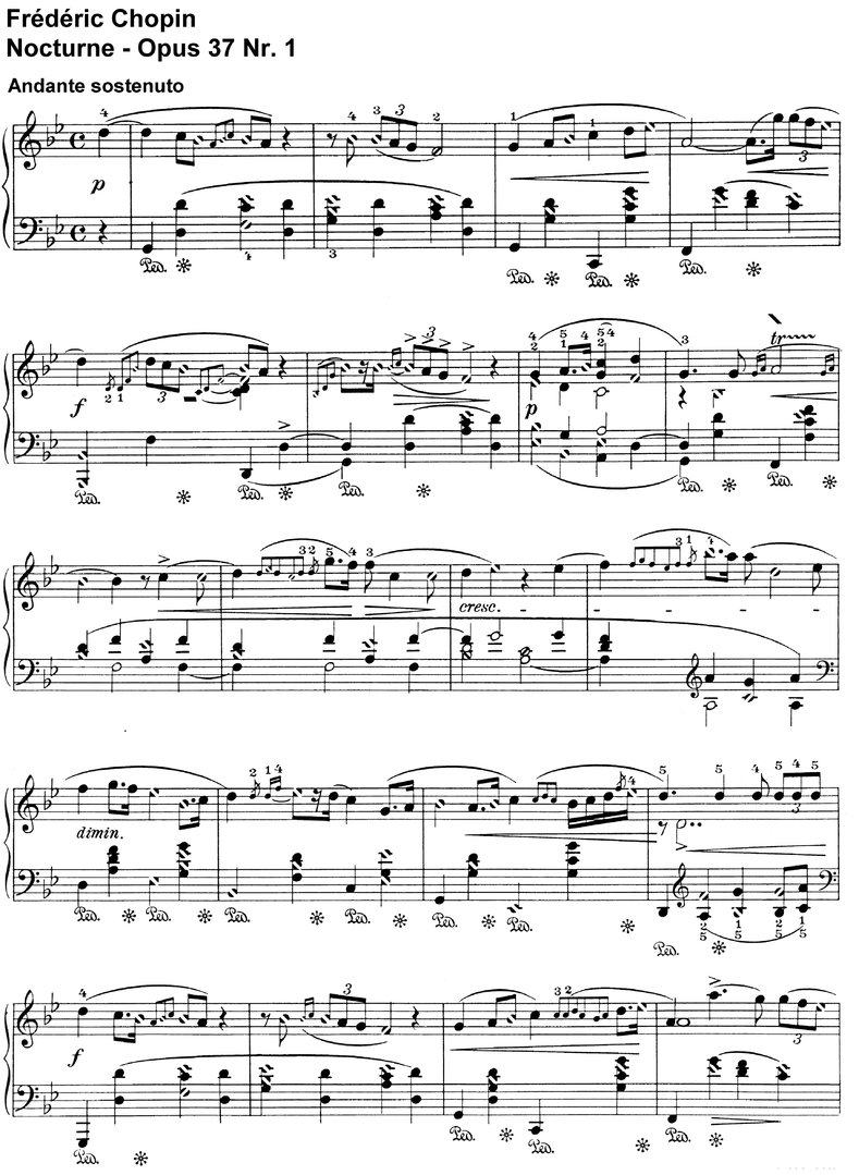 Chopin - Nocturne Opus 37 Nr 1 - 4 Pages
