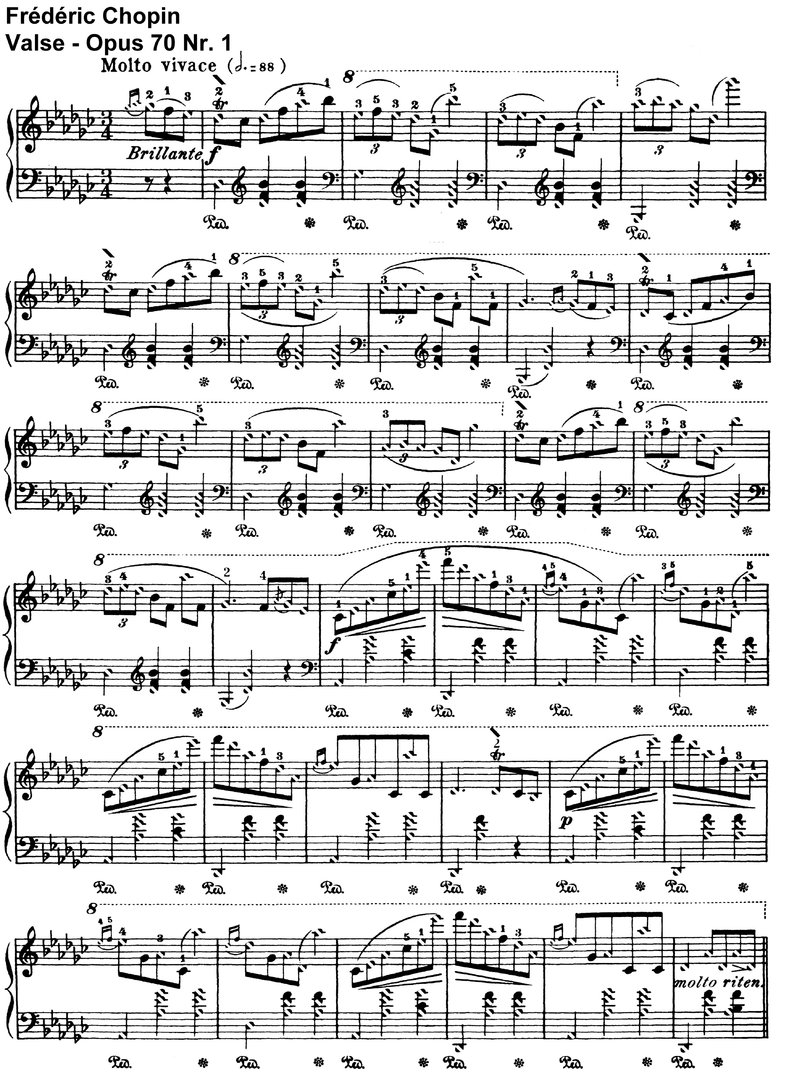 Chopin - Valse Opus 70 Nr 1  und Nr 2 - 5 Pages