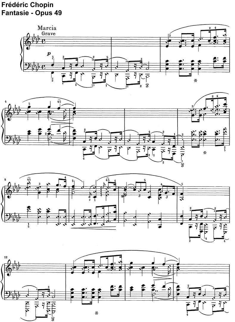 Chopin - Fantaisie - Opus 49 - 20 Pages