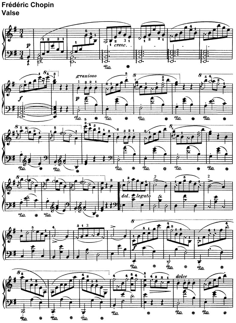 Chopin,Frédéric - Valse - 4 Pages