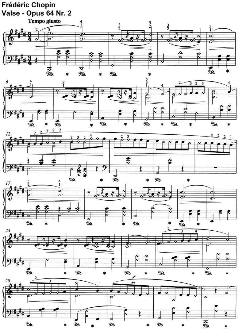 Chopin - Valse Opus 64 Nr 2 + Nr 3 - 11 Pages