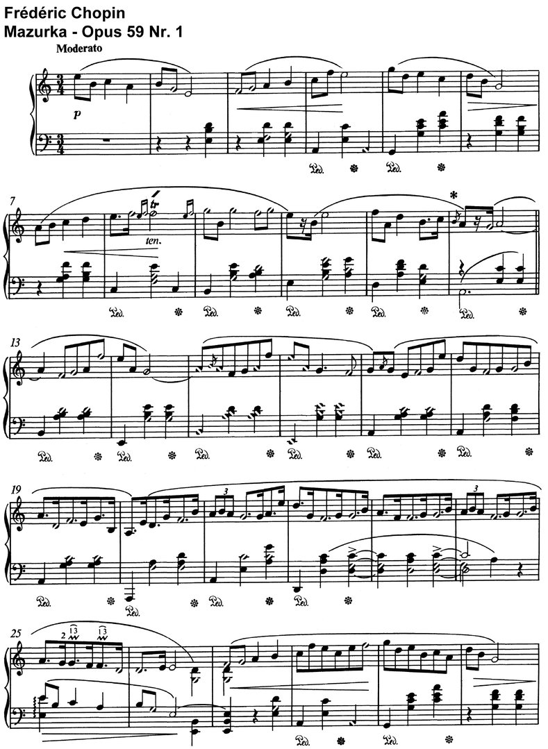 Chopin - Mazurka - Opus 59 - 12 Pages
