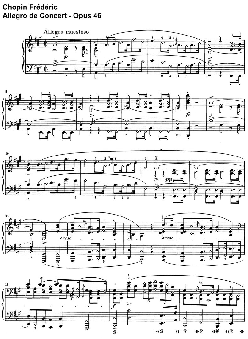Chopin - Allegro de Concert - Opus 46 - 22 Pages