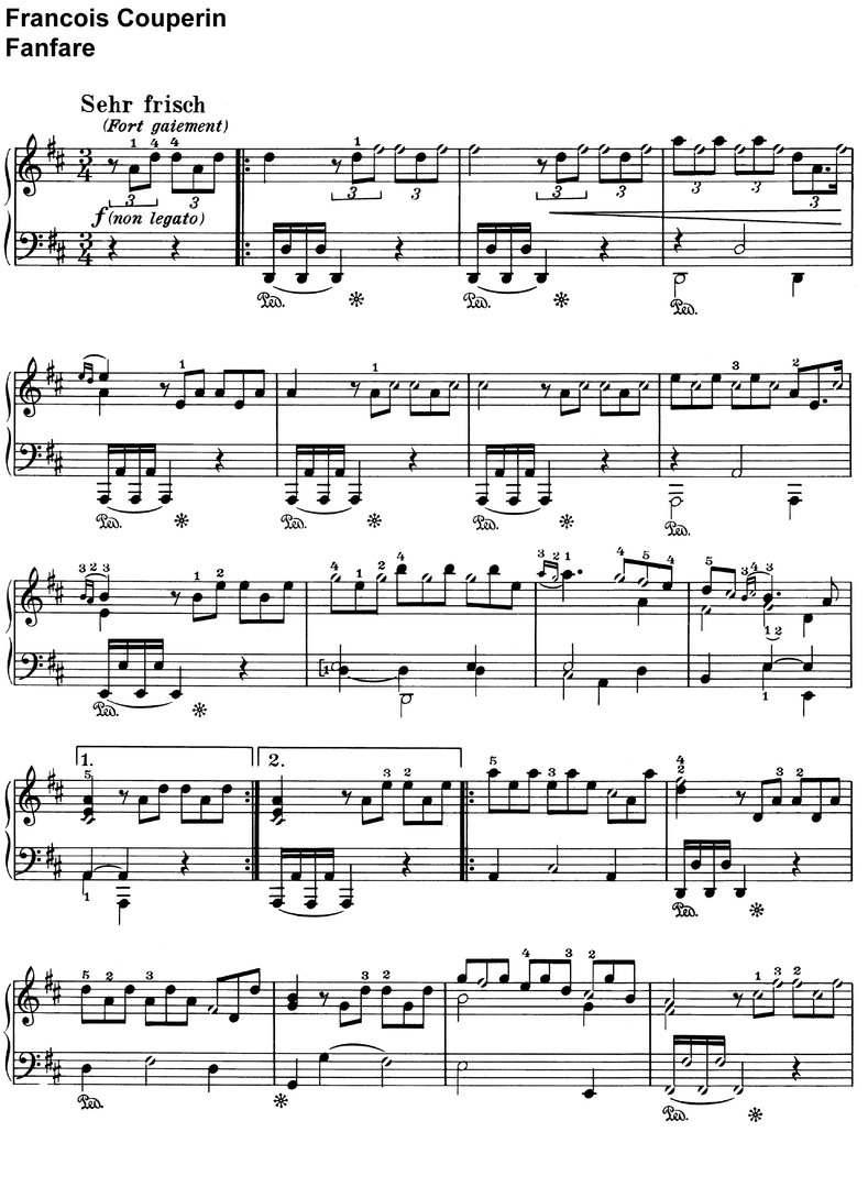 Couperin, Francois - Fanfare - 2 Pages