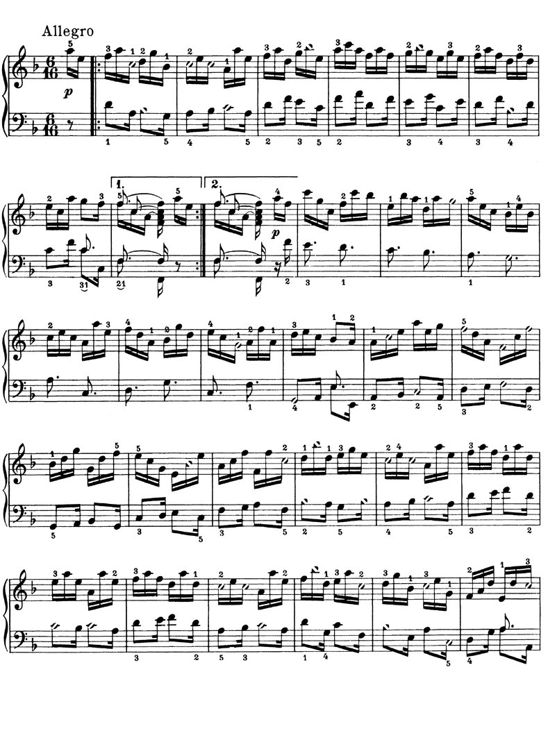 Couperin, Francois - Les Papillons - 2 Pages