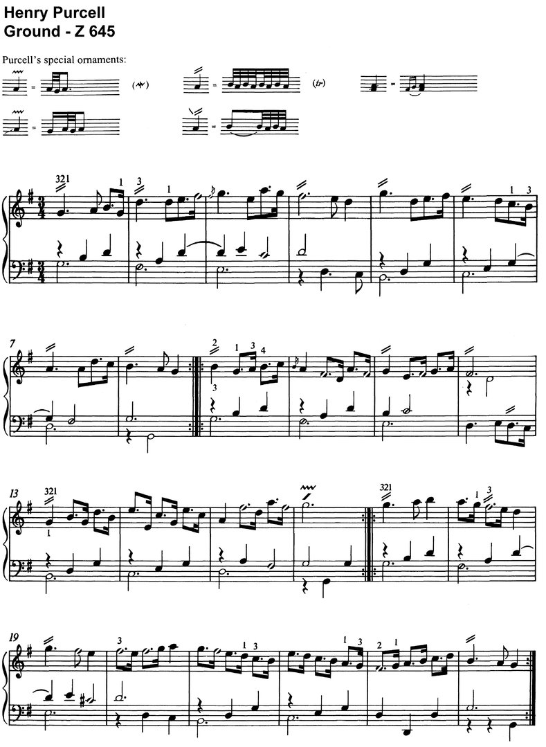 Purcell, Henry - Ground Z 645 - 3 pages