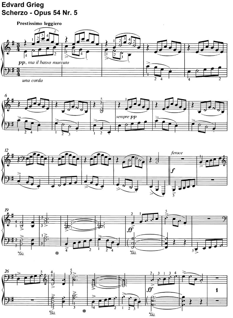 Grieg, Edvard - Opus 54 - 24 Pages