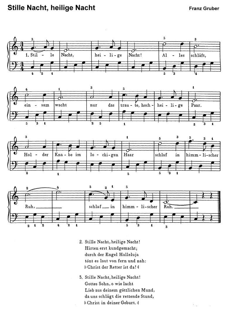 Stille Nacht Text Noten